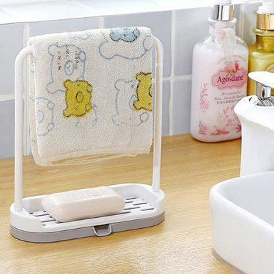 Multifunctional Bathroom or Kitchen Plastic Draining Frame 2PCS