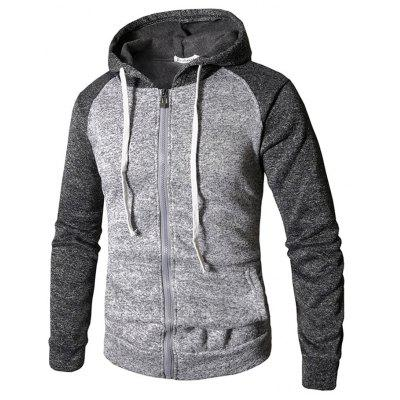 Male Long Sleeve Joint Sweatshirt Zipper  Hoodie
