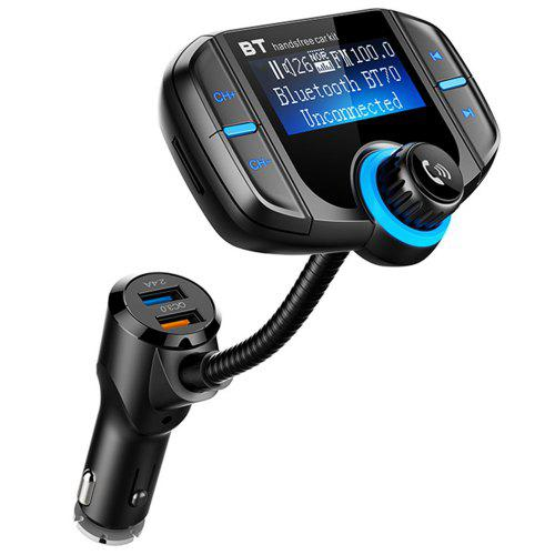 MP3 Player Dual USB Ports Car Charger 36W 5V 3.1A Breathing Light with Bluetooth FM Transmitter for Radio Hands Free Calling