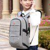 Anti-theft Oxford Fabric Man Backpack 1pc - LIGHT GRAY