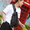 Port USB Design Fashion Man Chest Bag - CZARNY JAK KRUK