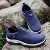 PU Leather Casual Sneakers dla mężczyzn - DENIM DARK BLUE