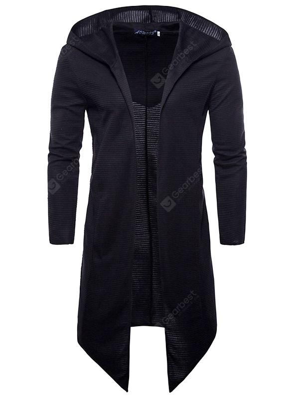 Men Fashion Long Sleeve Hooded Cardigan Knit Sweater