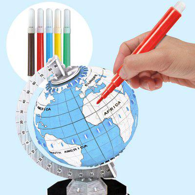 3D model Puzzle Manuální DIY Paint Globe Jigsaw Toy