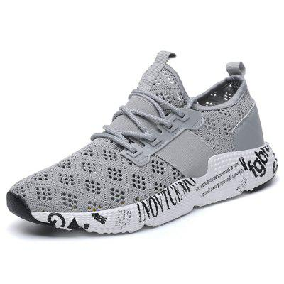 Mode masculine maille Wearable Lace Up Casual Sports Sneakers