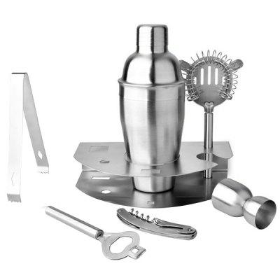 7-piece Stainless Steel Cocktail Shaker Tool Wine Set