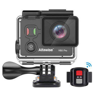 Gearbest EKEN Alfawise V50 Pro 4K UHD Action Camera - BLACK Time-lapse Video WiFi Control Bluetooth Shutter