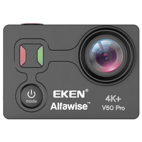 Gearbest EKEN Alfawise V50 Pro Ambarella A12S75 Chip 4K 30FPS Action Camera - BLACK Sony IMX 258 COMS WiFi 2.4G Remote Controller Included