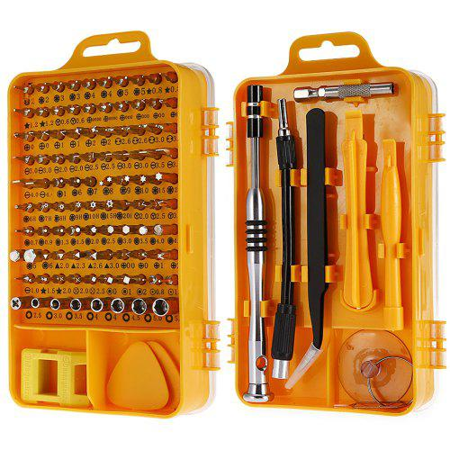 Gearbest 110-in-1 Precision Screwdriver Tool Set - YELLOW