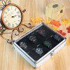Simple Square 12-Grid Watch Display Box - SILVER