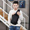 Multifunction USB Port Chest Bag - JET BLACK