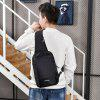 Multifunction USB Port Chest Bag - NOIR PROFOND