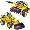2-in-1 Transformable Assembly Building Blocks Car for Children Puzzling Toys - YELLOW