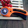 High-carbon Steel Manual Rotary Cutter - ORANGE