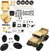 WPL B14KL DIY RC Military Truck Model Toy Kit - CHAMPAGNE