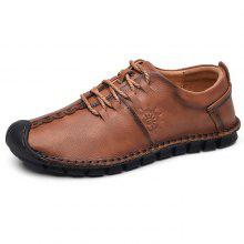 d3cc1bc126b0 61% OFF Wearable Flat Soft Men Lace-up Casual Leather Shoes