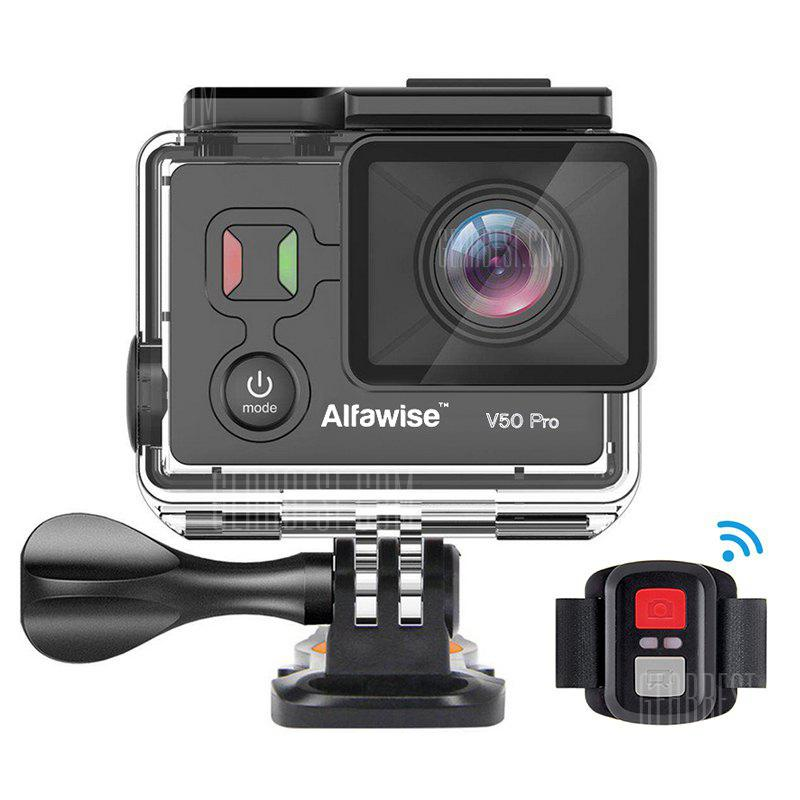 KEN Alfawise V50 Pro Ambarella A12S75 Chip 4K 30FPS Action Camera - BLACK