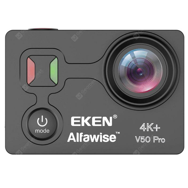 EKEN Alfawise V50 Pro Ambarella A12S75 Chip 4K 30FPS Action Camera - BLACK