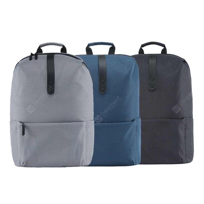 Xiaomi Stylish Plaid Water-resistant School Laptop Backpack