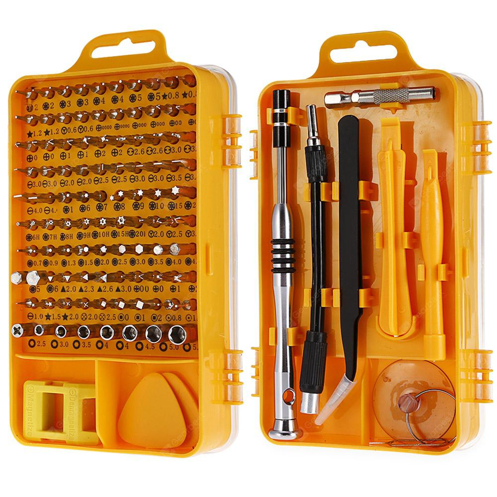 110-in-1 Precision Screwdriver Tool Set - YELLOW 27