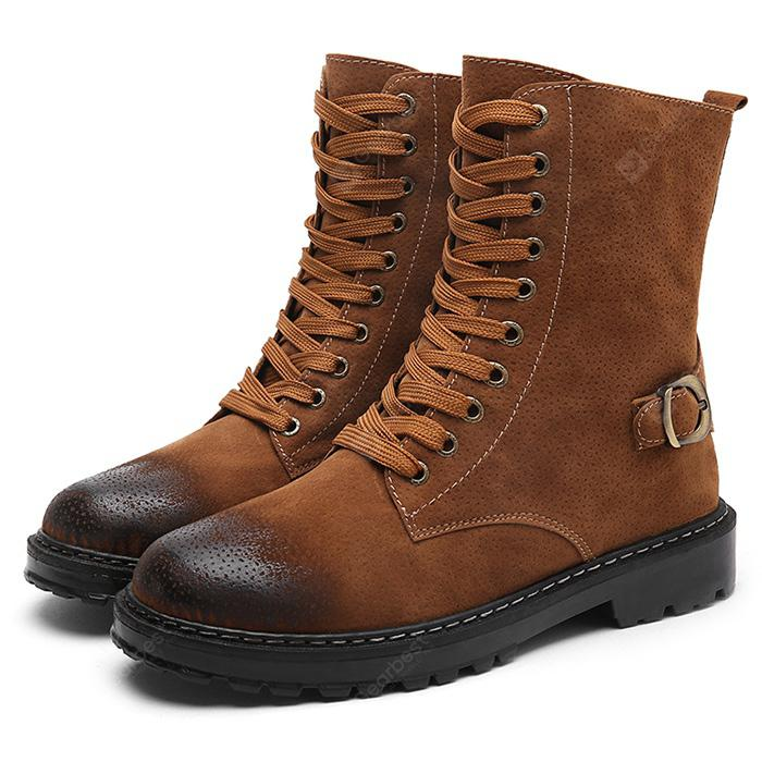 DOLL Shoes 47mm BROWN Lace up Boots
