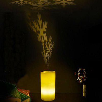 Creative Revolve Electronic Candle Projecting Lamp
