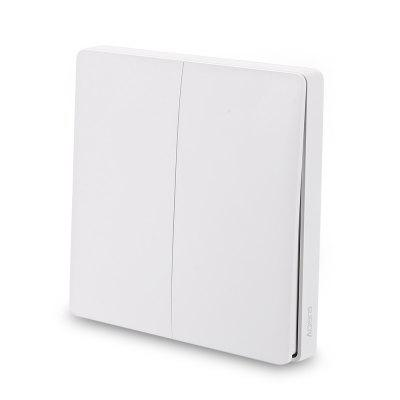 Aqara WXKG02LM Smart Light Switch Wireless Double Key ( Xiaomi Ecosystem Product )