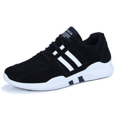 Male Fashion Contrast Color Wearable Lace Up Sports Shoes Sneakers