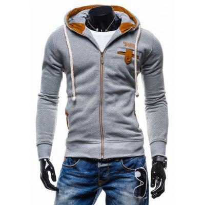 W57 Zipper Leisure Long Sleeve Men Hoodie
