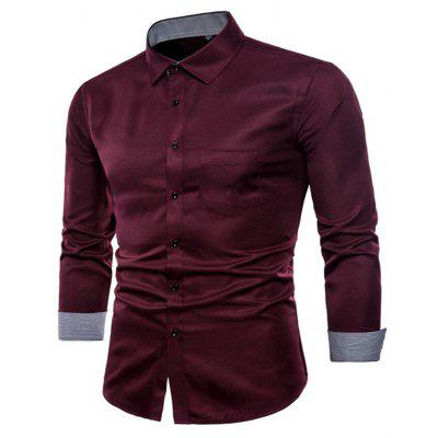 Long Sleeve Causal Business Fit Suits Shirts for Men