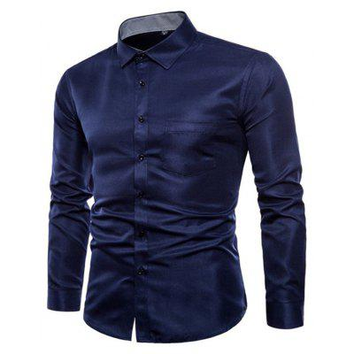 Long Sleeve Casual Business Fit passt Hemden für Männer