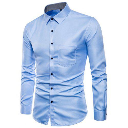 7f3b57904a3 Long Sleeve Causal Business Fit Suits Shirts for Men