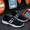 Male Fashion Contrast Color Wearable Lace Up Sports Shoes Sneakers - BLACK