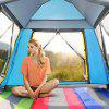 HEWOLF Outdoor Automatic Square Top Camping Tent - MEDIUM FOREST GREEN