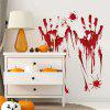 Halloween Horrible Wall Sticker otthoni dekorációhoz - PIROS