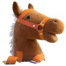 Riding Horse Toy Tied on Plush Stuffed Doll with Sound