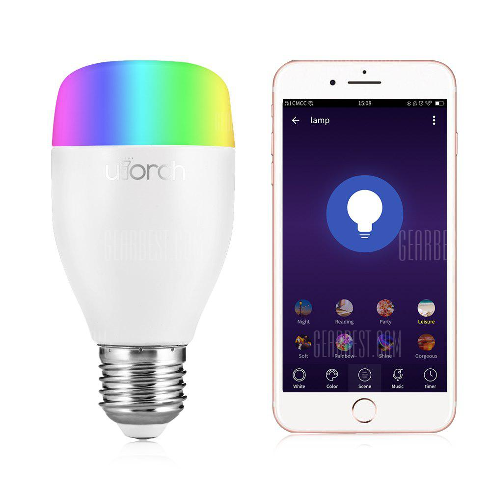 Utorch LE7 E27 WiFi Smart LED Bulb App / Stemmestyring - WHITE 1PC
