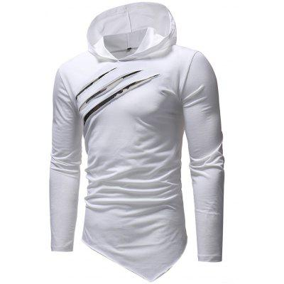 Camouflage Casual Slim Hooded Long-sleeved T-shirt for Man