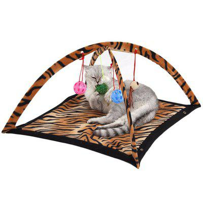Playing Exercise Game Cat Tent