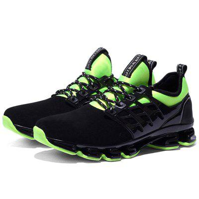 Men Lace Up Net Fabric Cushion Athletic Sports Shoes Sneakers