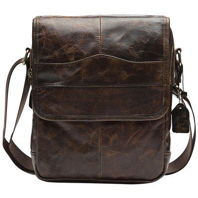 MVAPE Men Classic Leather Portable Crossbody Bag