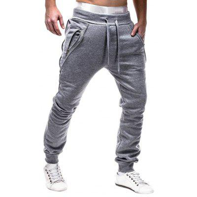Stylish Breathable Solid Color Drawstring Sports Casual Pants