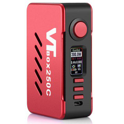 Gearbest VAPECIGE VTBOX250C TC Mod - RED Supporting 2pcs 18650 Batteries
