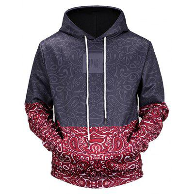L6580  3D Digital Printed Male Hoodie with Ethnic Pattern