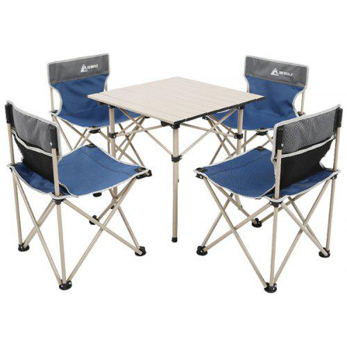 Hewolf Outdoor Portable Camping Folding Table Chair Set 5pcs 106 39 Free Shipping Gearbest