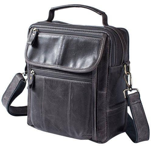 MVA Men Retro Business Splicing Leather Shoulder Bag