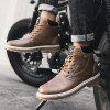Fashion High-top Martin Boots for Man - BROWN