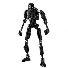 Creative Black Robot Block Toy