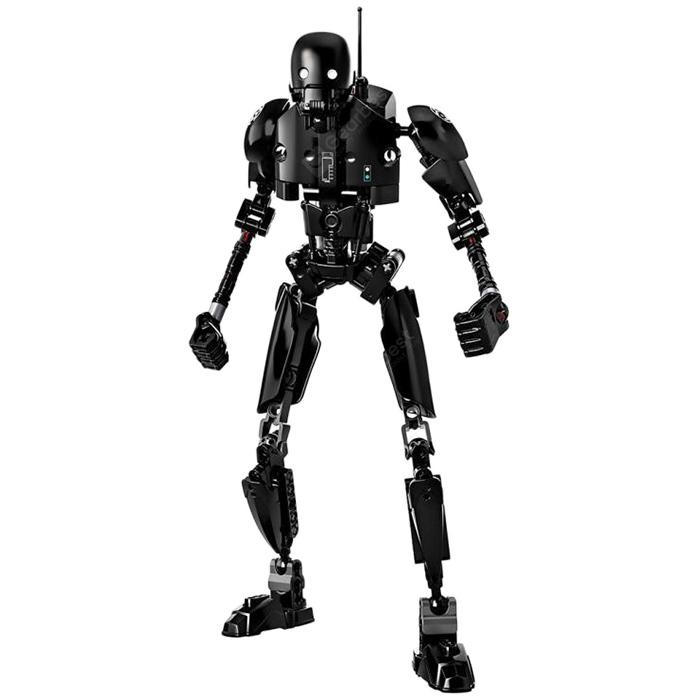 Creative Black Robot Block Toy - BLACK