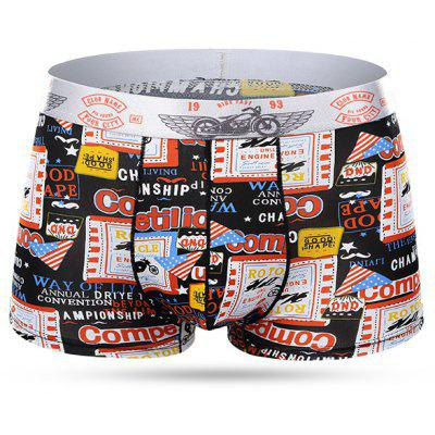 Men's Sexy Ice Cream Breathable Printing Medium Waist Boxer